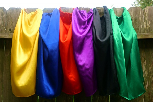 Variety of bulk superhero capes